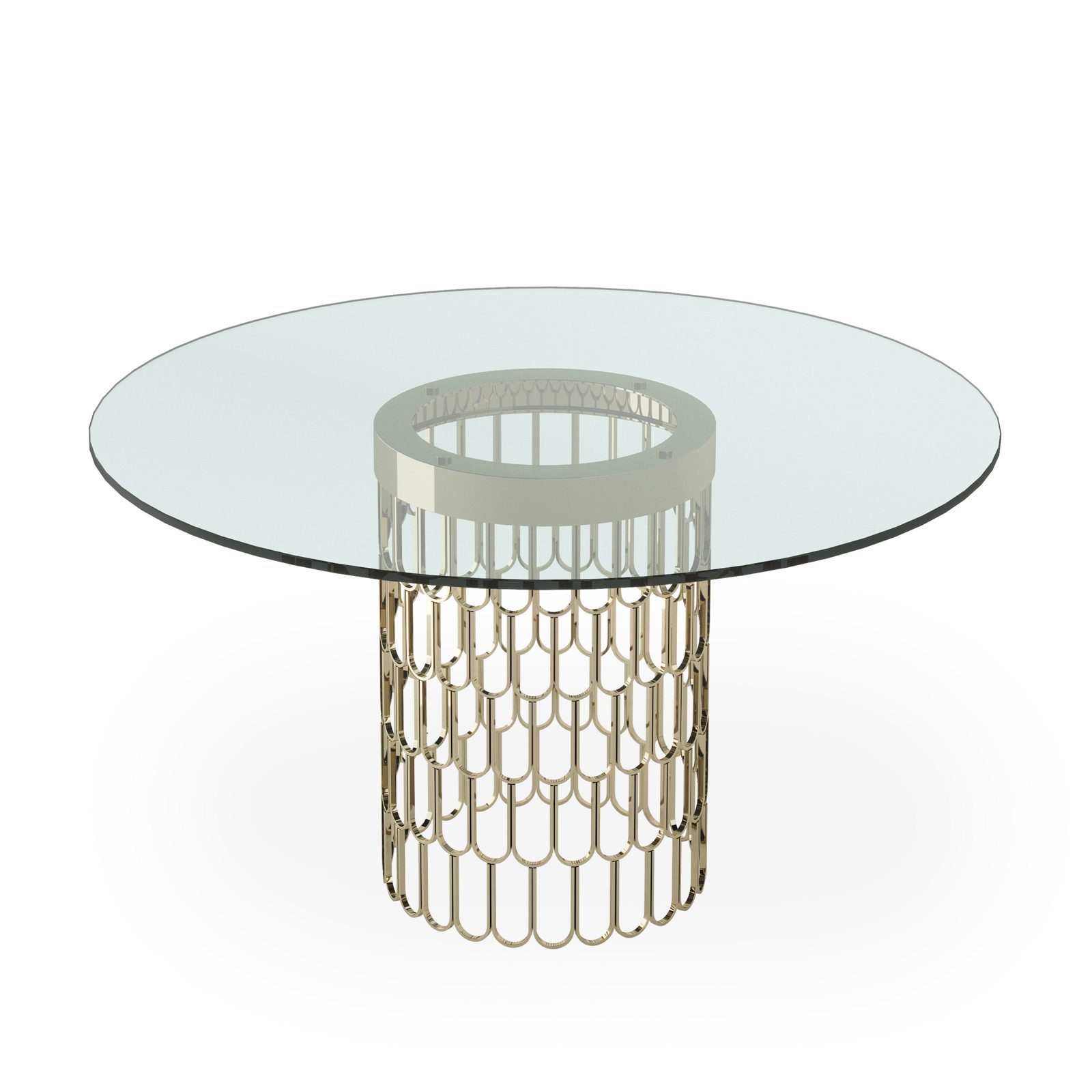 Feather Round Dining Table by Bonham & Bonham