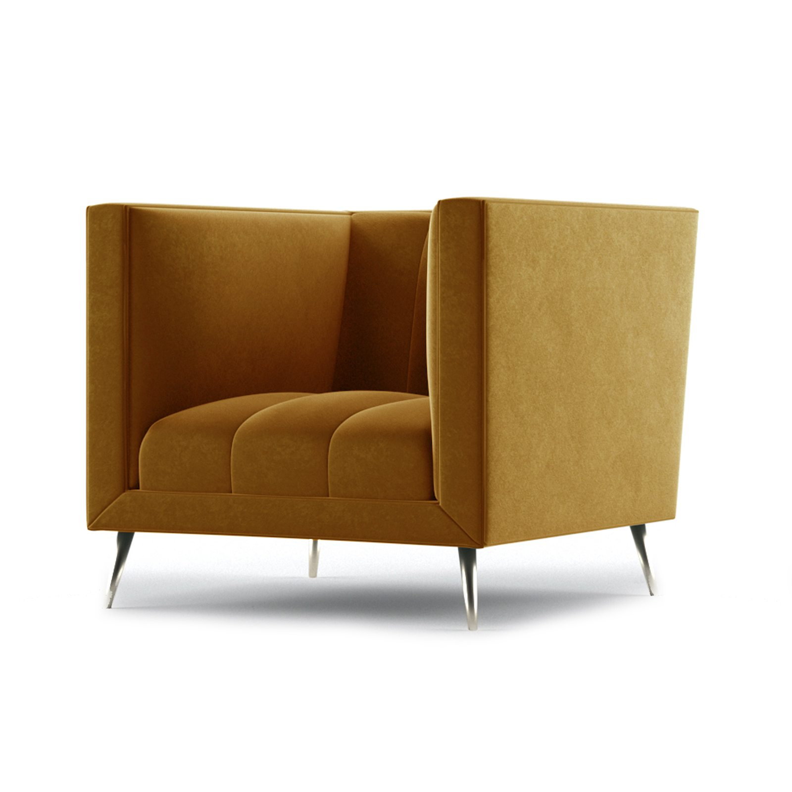 Connick Armchair by Bonham & Bonham Dark Tangerine 02
