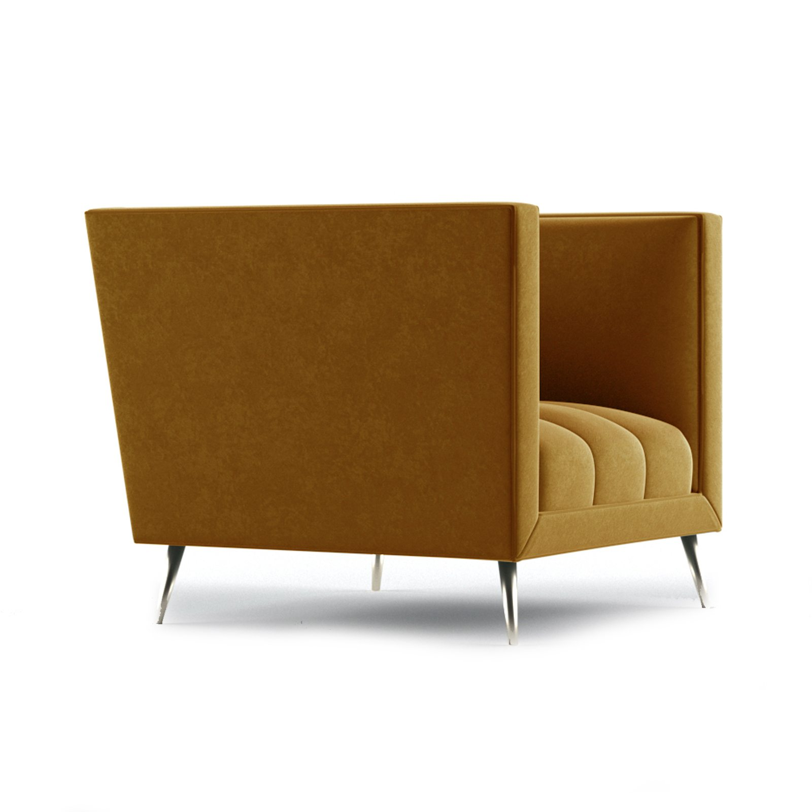 Connick Armchair by Bonham & Bonham Dark Tangerine 11