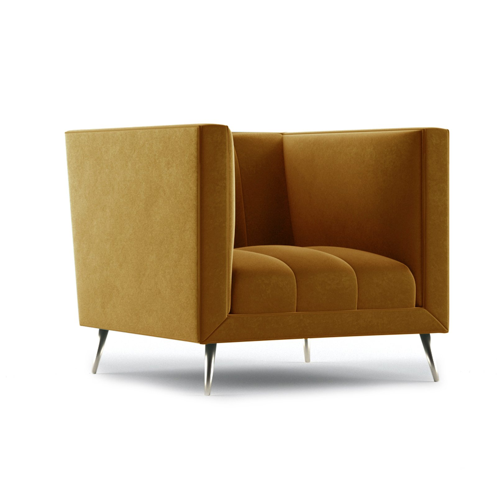 Connick Armchair by Bonham & Bonham Dark Tangerine 12
