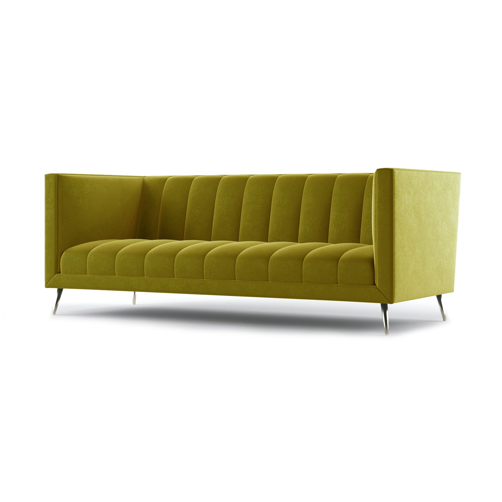 Connick Three and a Half Seater Sofa by Bonham & Bonham Gold 02