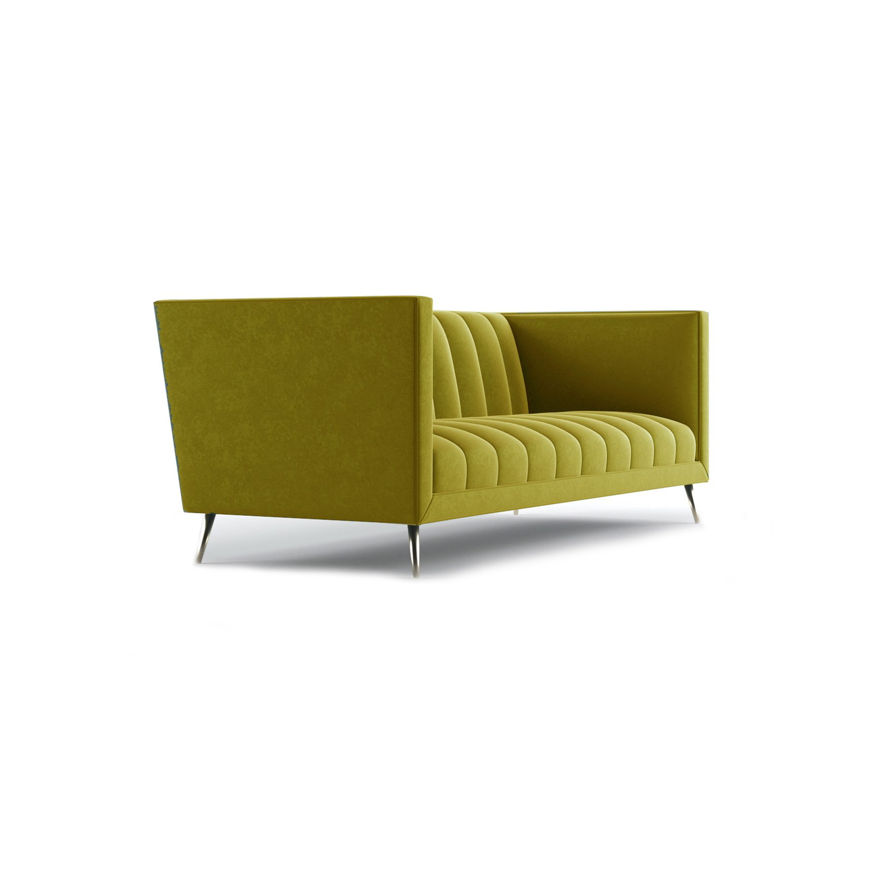 Connick Three and a Half Seater Sofa by Bonham & Bonham Gold 11