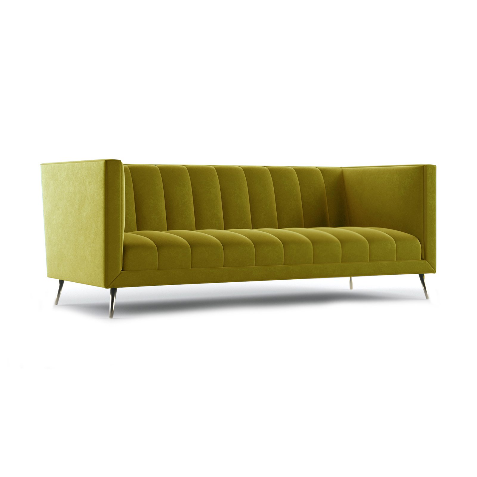 Connick Three and a Half Seater Sofa by Bonham & Bonham Gold 12
