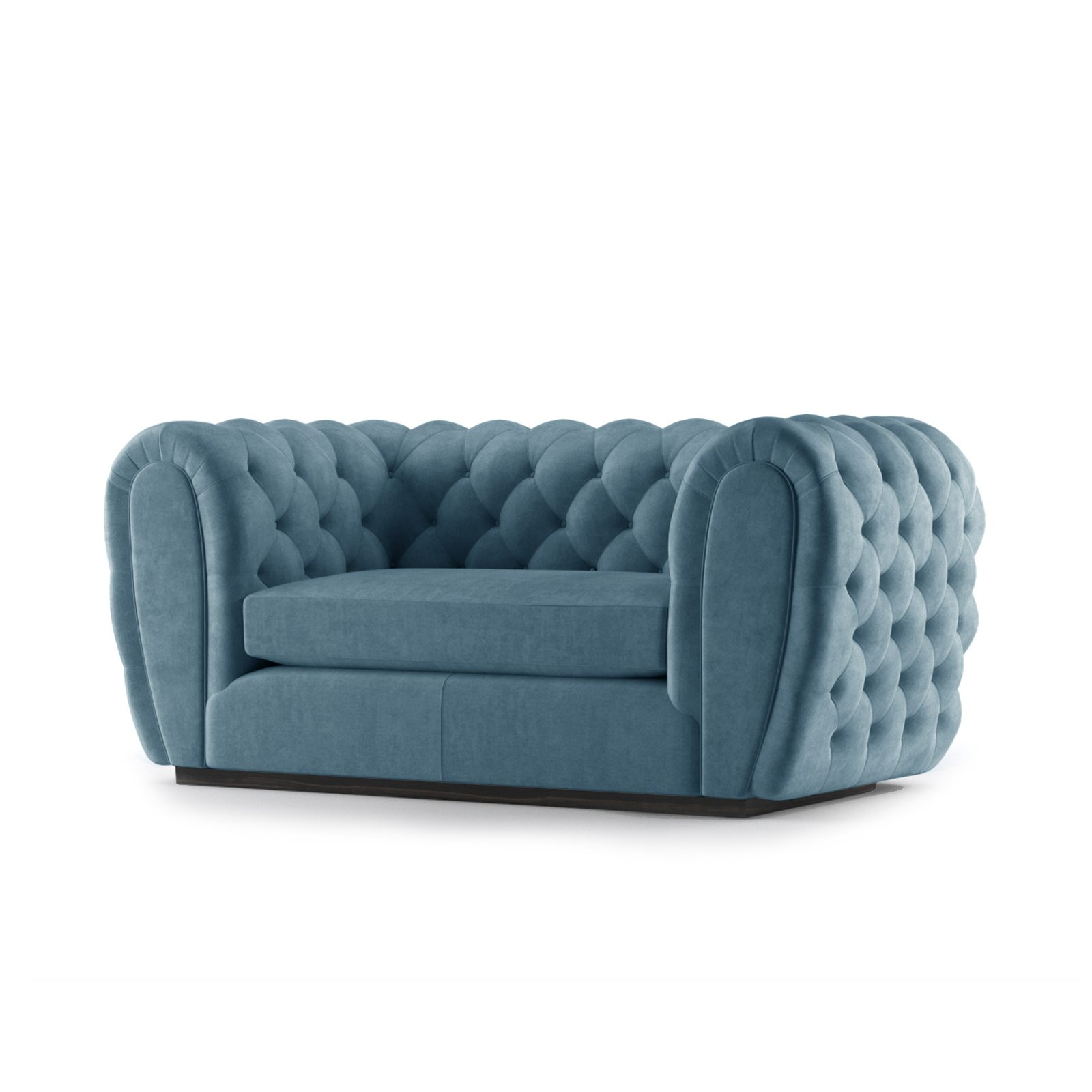 Olivier Two Seater Sofa by Bonham & Bonham Teal 02